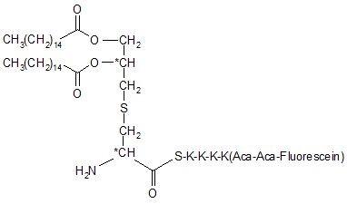Pam2Cys-SKKKK(Fluorescein-Aca-Aca)-NH2