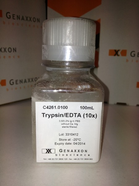 0.5% Trypsin in PBS with 0.2% EDTA - 10X solution