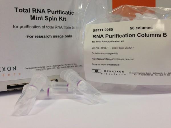 RNA purification columns from Genaxxon