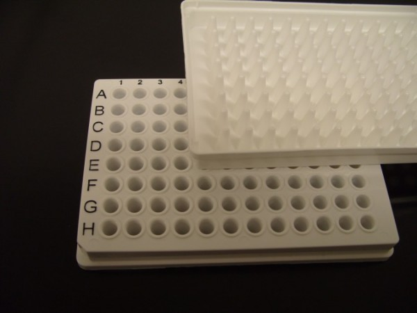 White low-profile PCR plates - fully-skirted - coded