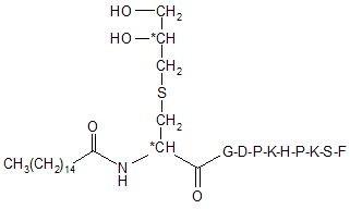 Lipopeptide Pam-Dhc-GDPKHPKSF