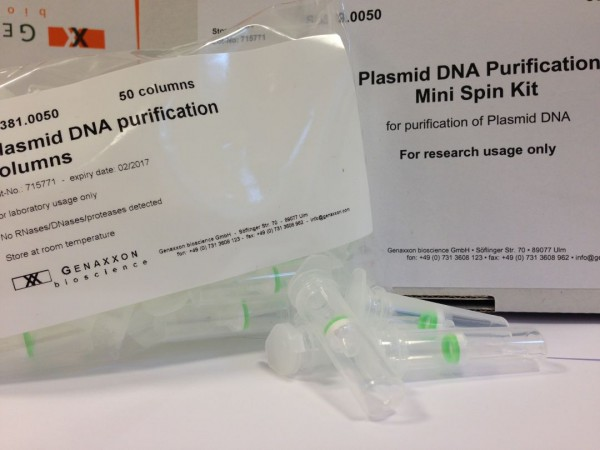 Plasmid DNA purification columns from Genaxxon