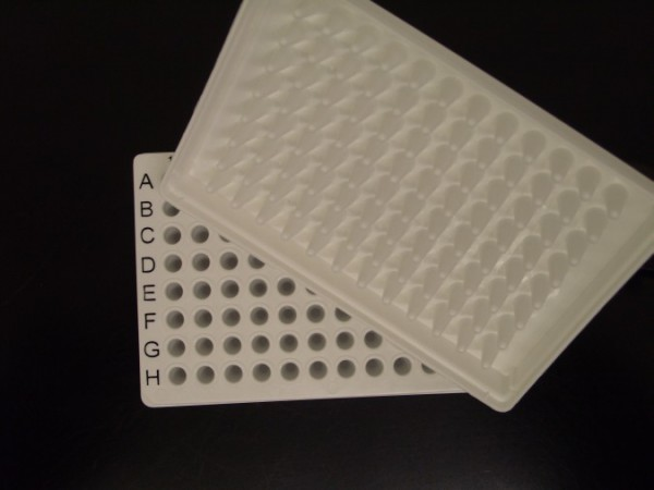 96-well PCR plates, semi skirted, white